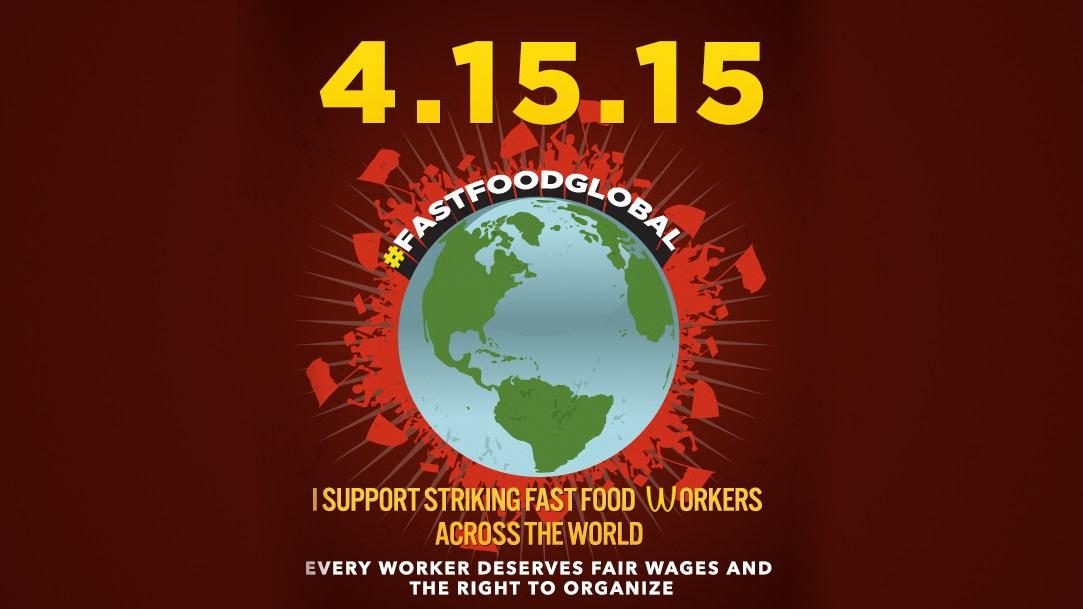 Uno de los afiches convocando a las marchas del 15 de abril